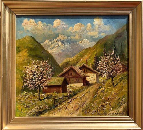 Listed Danish Artist FINN WENNERWALD 1896-1969 Antique Oil Painting on Canvas