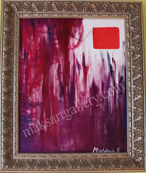 Original Oil painting on canvas, Abstract, Signed, Dated
