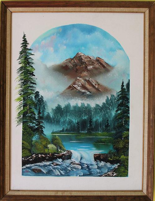 Original Oil Painting on canvas Landscape, Signed, Framed