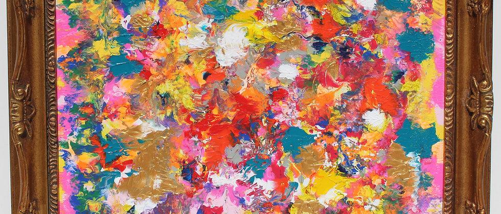 Original Painting on Canvas, Fantasy Abstract Style,  Signed SerG Graff, COA, Gi