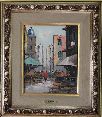 Listed Artist Antonio De Vity(1901-1993) original Oil Painting On Canvas, Paris