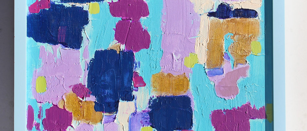 """Original Abstract textured Painting on Canvas Titled """"Morning Traffic"""", signed"""