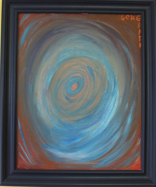 Oil painting on canvas, abstract, signed S.Graff, Certificate