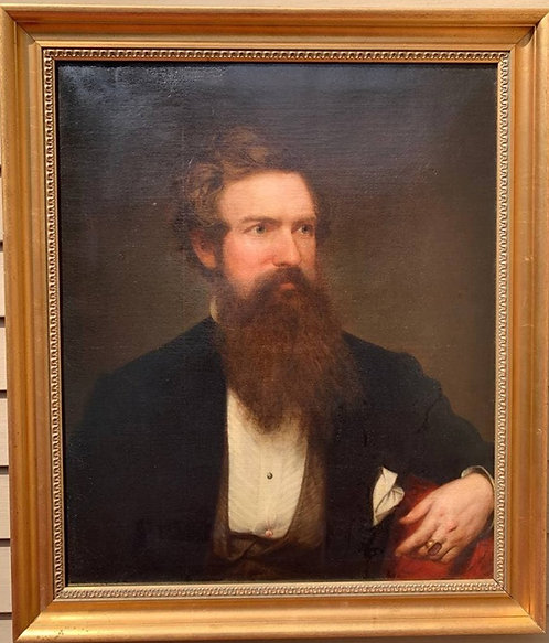 ORIGINAL 1860 Famous American Artist Henry Peters Gray (1819-1877) oil on canvas