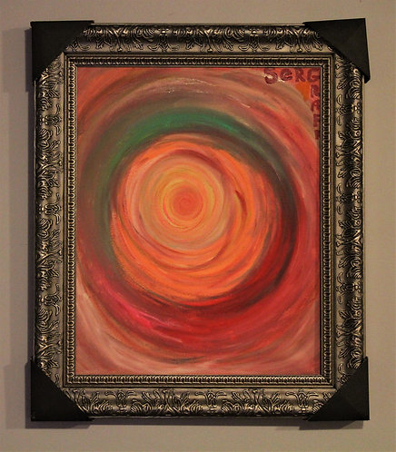 Original Oil painting on canvas, abstract, signed, Certificate of Authen
