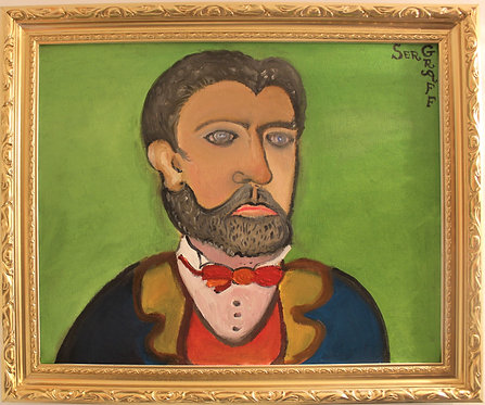 Oil painting on canvas, portrait of Ulysses S. Grant ,signed S.Graff, COA