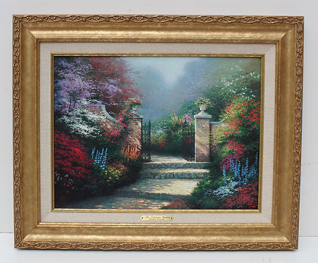 """Thomas Kinkade """"The Victorian Garden"""", Canvas, Classic Collection I-1997, COA"""