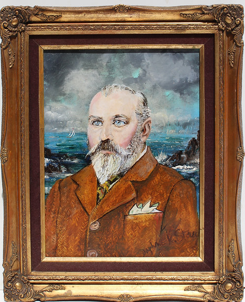 Vintage Oil Painting on Canvas, Portrait of Lord Whitehall of Dover, signed