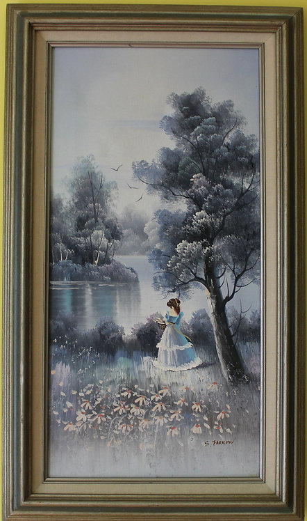 ORIGINAL   OIL PAINTING ON CANVAS, SIGNED S.FARROW , FRAMED
