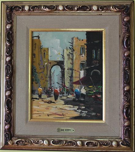 Listed Italian Artist Antonio De Vity(1901-1993) original Oil Painting On Canvas
