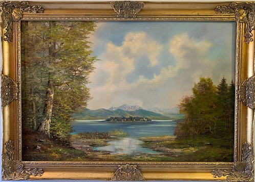 Listed Artist Karl Gatermann (Germany 1909-1992) Large oil painting on canvas