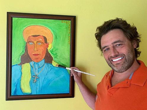 Oil painting on canvas, Portrait