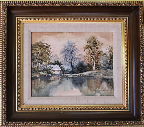 Jan Ward Calaski Highly Listed Artist Original Signed Framed acrylic painting