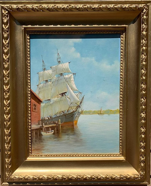 Humberto da Silva Fernandes(1937-2005) Clipper Ship Oil Painting on Canvas