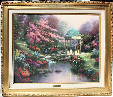 "Tomas Kinkade ""The Garden of Prayer II"" on S/N Canvas, 24"" x 30"" Limited Edition"