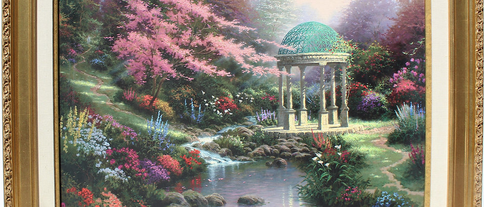 """Tomas Kinkade """"The Garden of Prayer II"""" on S/N Canvas, 24"""" x 30"""" Limited Edition"""