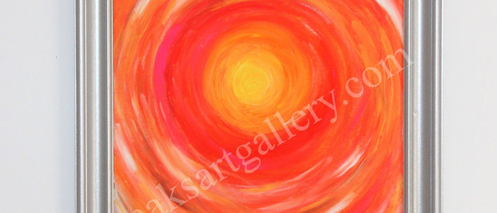 Original Oil painting on canvas, abstract, signed, Russian Artist S.Graff