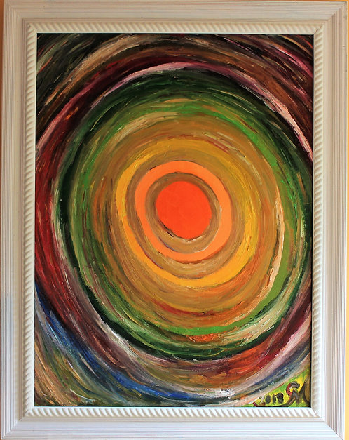 Original Oil painting on canvas, abstract, Magical Aura, signed, Russian Artist