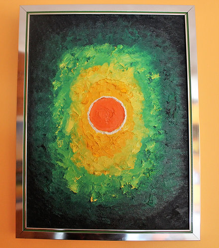 Original Oil painting on canvas, Aura, signed Arya