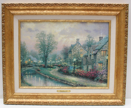 "Thomas Kinkade ""Lamplight Lane"", Canvas, Classic Collection I-1997, COA"