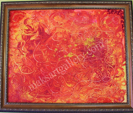 Modern Original Oil painting on canvas, abstract, signed, Russia