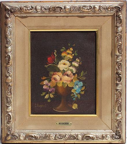 Italian Artist Vito Luis Ruggeri original Oil Painting On Canvas, Still life