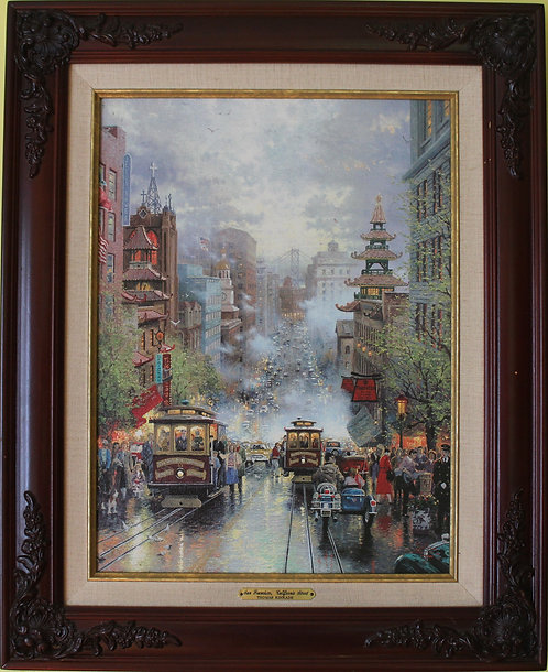 Thomas Kinkade San Francisco California Street Classics Collections I-1997 COА