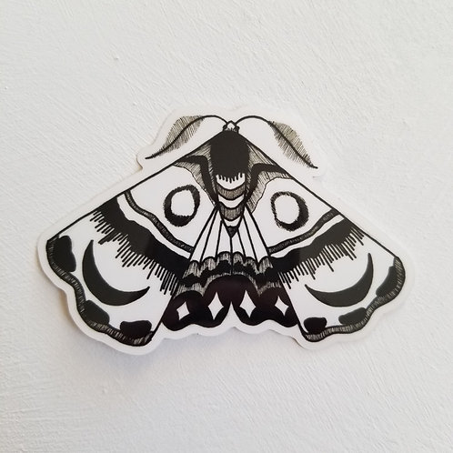 "Moth Vinyl Waterproof 2"" Sticker"