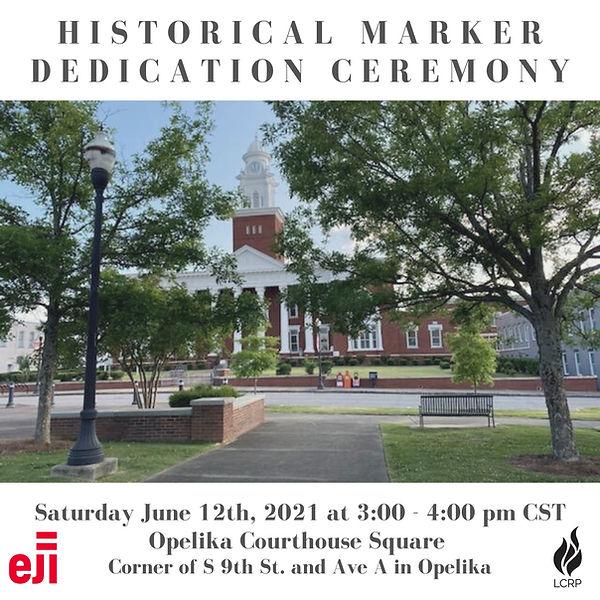 Historical Marker Dedication Ceremony Gr