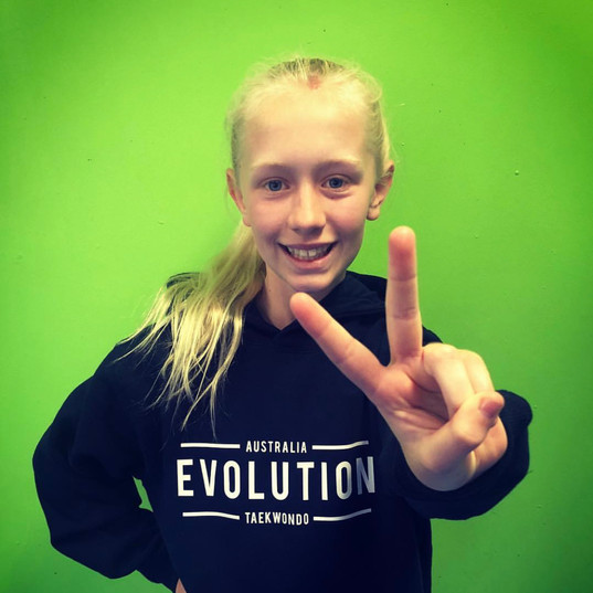 Maddie our leader in the evo jumper