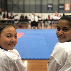 Poomsae girls waiting for theire turn to compete