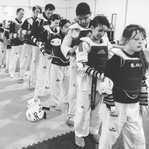 Team work in sparring class