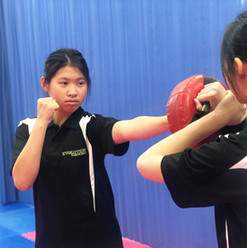 Anita & Joanne training hard