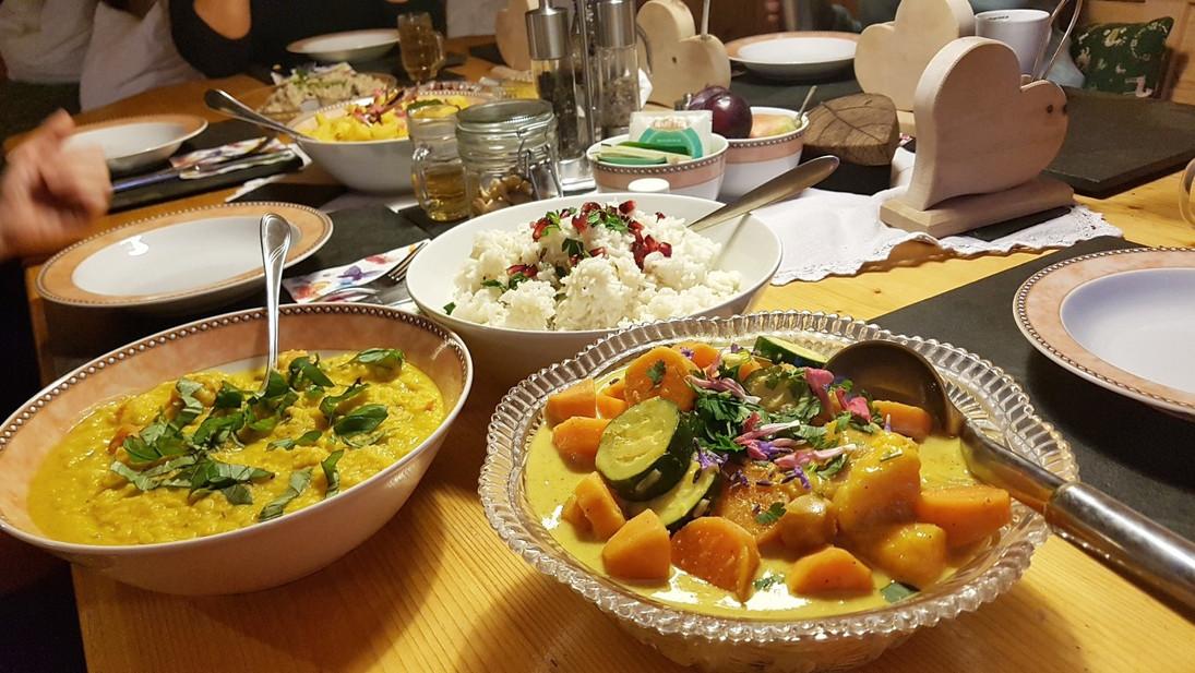 Ayurvedisches Abendessen