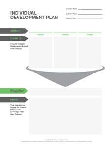Individual Development Plan. Put your Strengths into action!