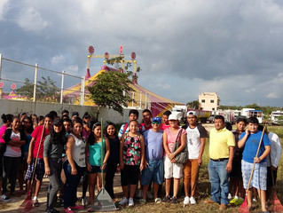 Empowering our Youth worked together with local leaders of Puerto Aventuras with the clean up of the