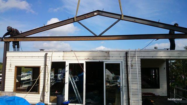 dak in aanbouw