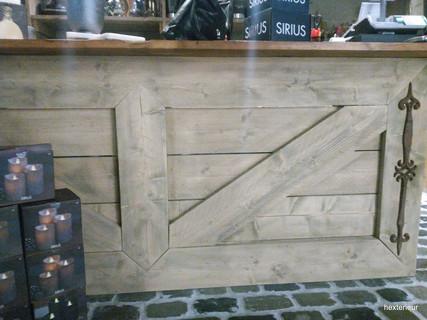 houten balie