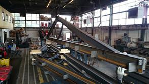 staalconstructie in aanbouw