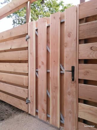 poort en schutting douglas hout