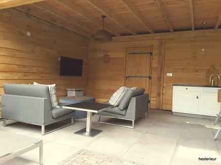 interieur eiken terrasoverkapping