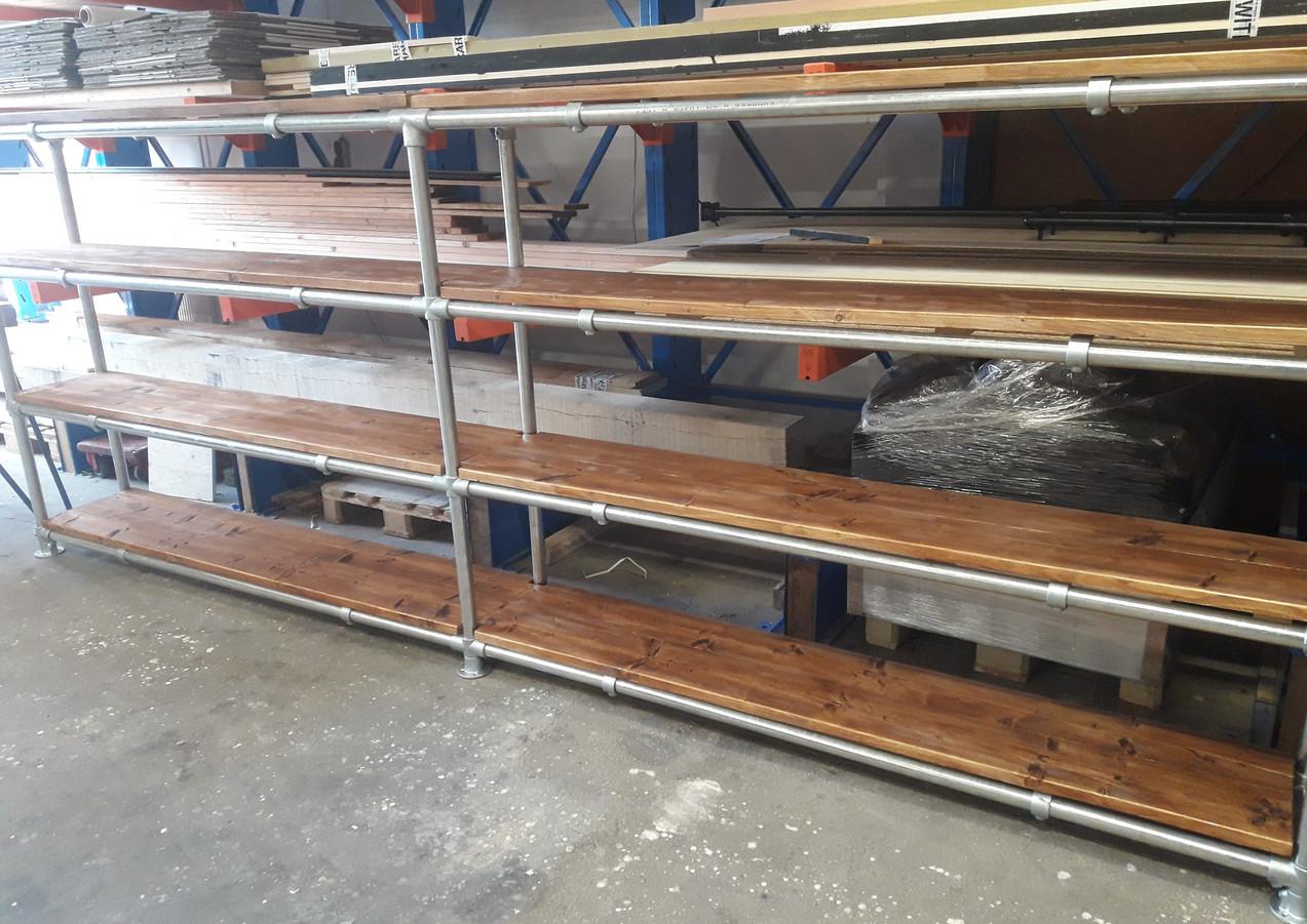 stelling hout en staal