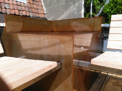 bank in staal en hout