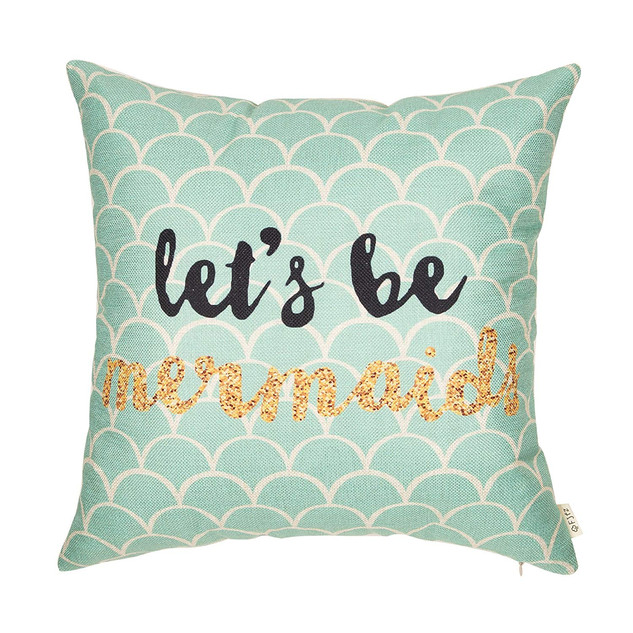 """""""Let's Be Mermaids"""" Pillow Cover"""