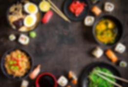 bigstock-Sushi-And-Japanese-Food-On-Dar-