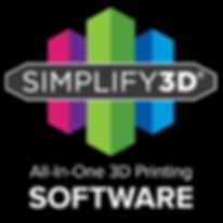 Simplify3D Black Background Logo 3000x30