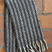 Zig Zag Striped Wool Scarf