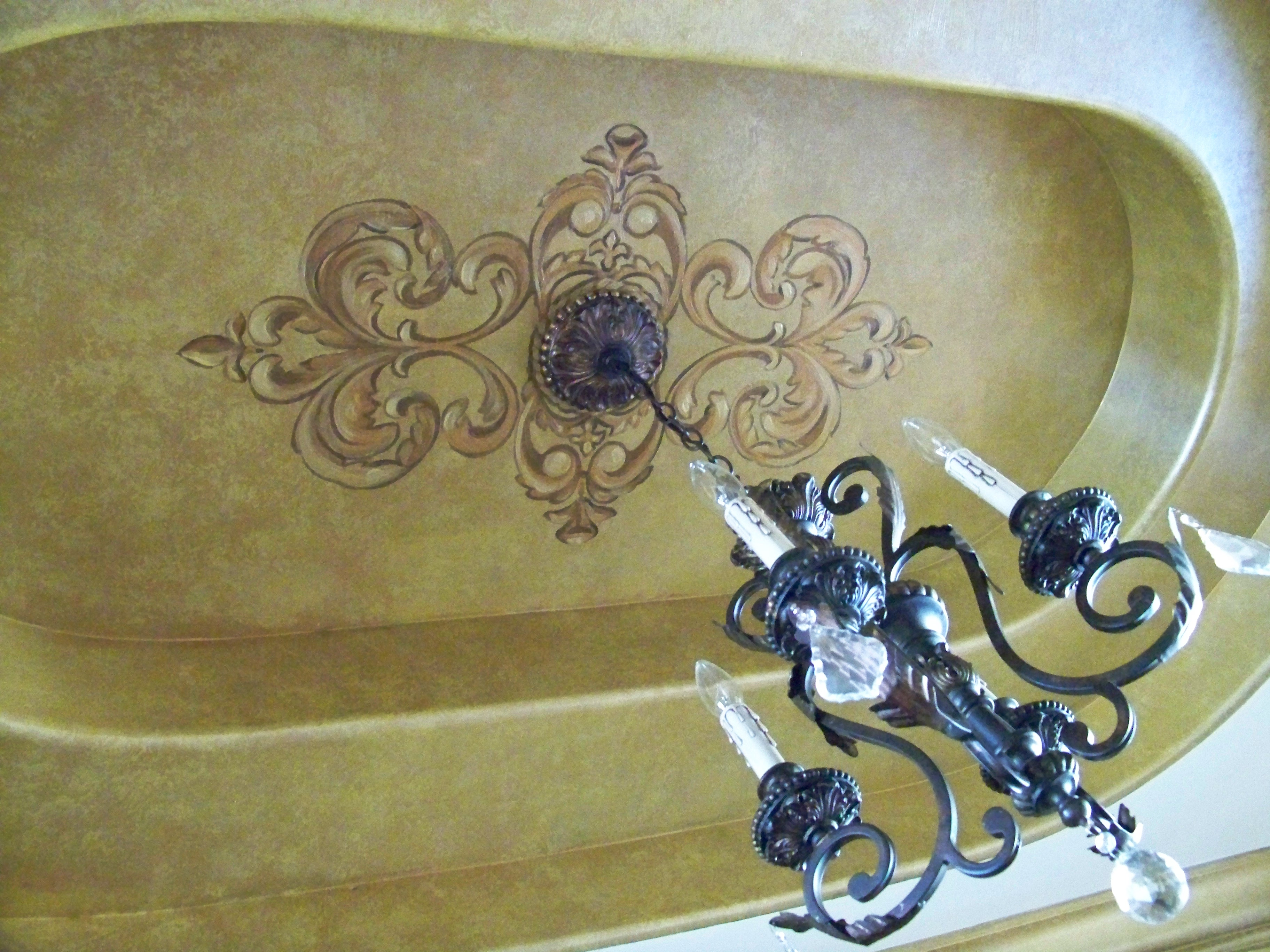 Faux Metallic Golden Ceiling