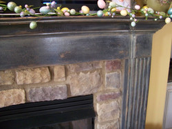 Mantle Painted to Appear Aged