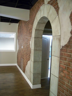 Faux Brick and Stone Wall Detail